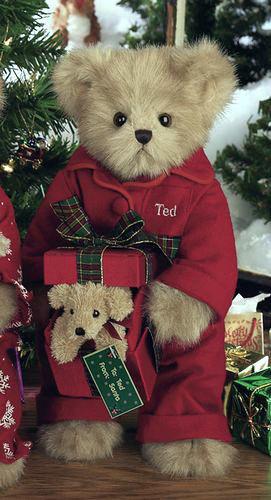"Bearington Bears ""Puppy Love"" 14"" Christmas Collector Bear- Sku#1578 - NWT- 2005"