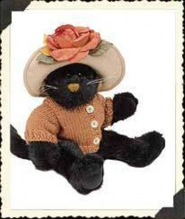 "Primary image for Boyds Bearstone ""Mrs Partridge"" #919750 - 9"" Halloween Plush Cat- 1998-Retired"
