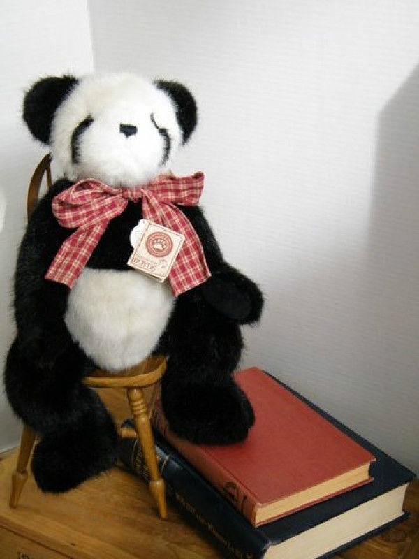 "Boyds Bears ""Ma Shen San""  # 93211V- 16"" QVC Exclusive Panda- NWT- 2001- Retired"