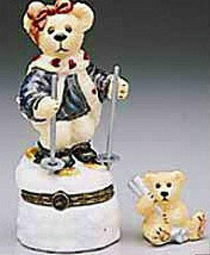 "Boyds Bears*LeBearmoge*Porcelain Box ""Natasha..C.C.Journey"" #392018* 1E* New"