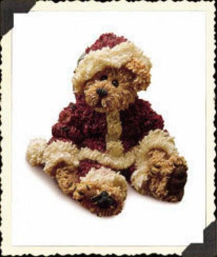 "Boyds Bearstone ""Sandy Claus.. Have a Simple Christmas"" #228320*1E*NIB*Retired"