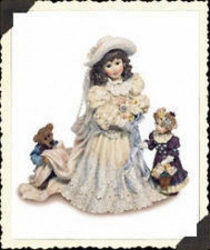 """Boyds Dollstone """"Emily with Kathleen & Otis..The Future"""" #3508 -NIB-1996-Retired"""