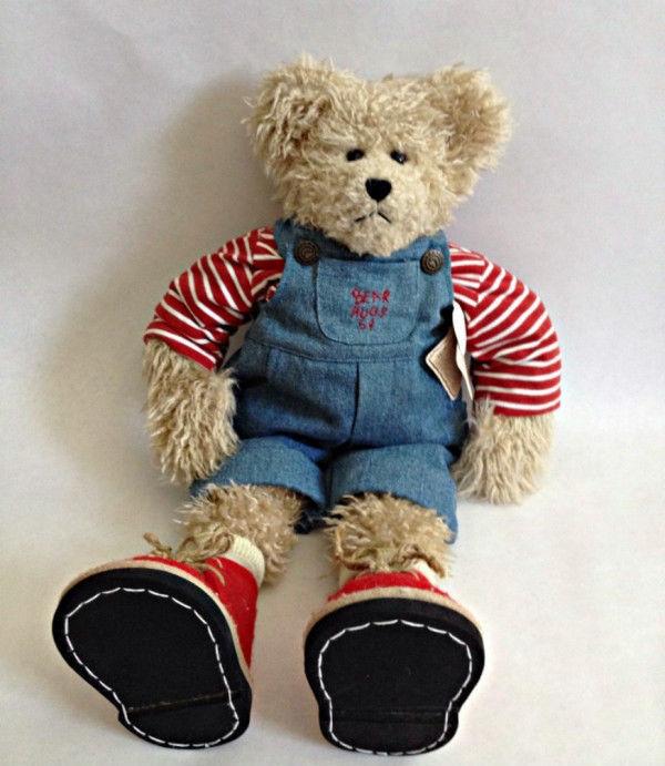 """Boyds Bear """"Brendon B. Beanster"""" 20"""" QVC Plush Bear- #93319V- NWT"""