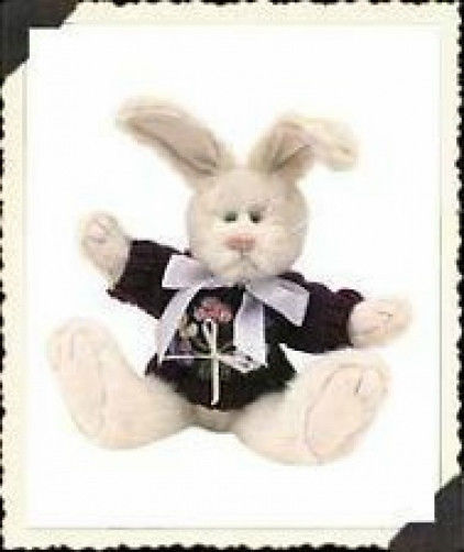 "Boyds Bears ""Lila Hopkins"" 8"" Plush Rabbit - #91124 - NWT - 2000"