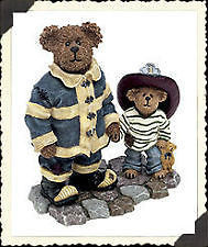 "Boyds Bearstone ""Patrick and His Hero..When I Grow Up"" #227796* PE*NIB* Retired"