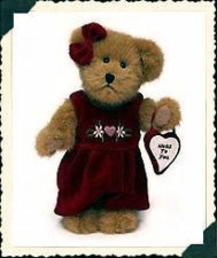 "Boyds Bears"" Miss Hugaby"" 8"" Plush Bear #903038  -NWT- 2003 - Retired"