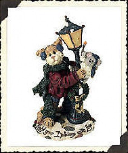 """Boyds Purrstone """"Mr. Fuzzywig & Sparky.. Holiday Glow"""" #371018- 1E- NIB- Retired"""
