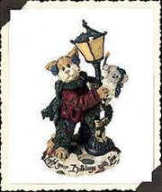 "Boyds Purrstone ""Mr. Fuzzywig & Sparky.. Holiday Glow"" #371018- 1E- NIB- Retired image 1"