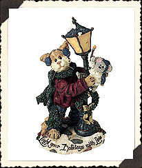 "Boyds Purrstone ""Mr. Fuzzywig & Sparky.. Holiday Glow"" #371018- 1E- NIB- Retired image 2"