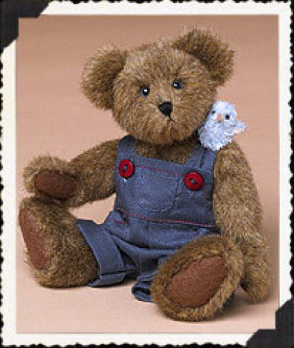 "Boyds Bears ""Remus Q. Tweeter w/ Zip"" #904263- 8"" Plush Bear- NWT- 2004- Retired"
