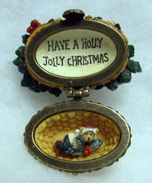 "Primary image for Boyds Treasure Box ""Holly Basket with Jacob Hol"" Longaberger LE-NIB-2006-Retired"