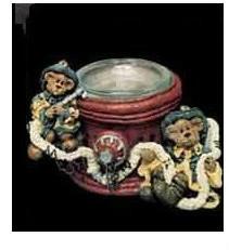 "Boyds Bears Votive Holder ""Marshall & Bill.. Give Us Courage""  #27724*1E* NIB"