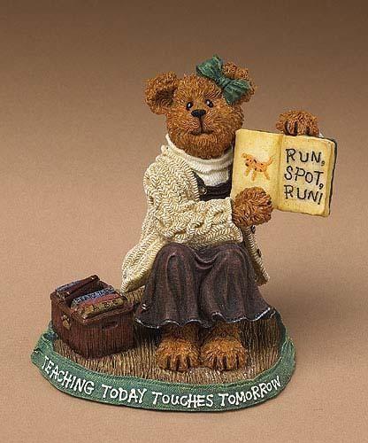 "Boyds Bearstone""Miss Appleton.. Story Time""  #228432-1E-NIB-2004-Retired"