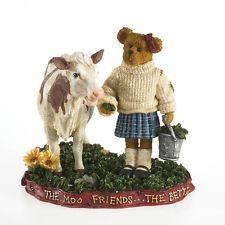"""Boyds Bearstone """"Ginny Mae McBearsley w/ Bessie..Down Home Friends""""  #4022169-"""