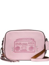 COACH NEW KEITH HARING BOOMBOX LEATHER CAMERA BAG PURSE CROSSBODY PINK V... - $225.00