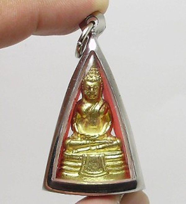 LP SOTORN THAI FAMOUS TOP TEMPLE GOLD PLATED BUDDHA AMULET PENDANT THAILAND GIFT