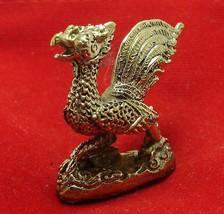TINY PHEASANT MAGIC BIRD THAI BRASS AMULET RICH TRADE LUCKY GAMBLE NICE HOT GIFT image 3