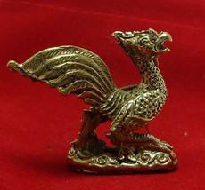 TINY PHEASANT MAGIC BIRD THAI BRASS AMULET RICH TRADE LUCKY GAMBLE NICE HOT GIFT image 5