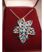 Vintage Jewelry RS  Frosted Leaf Pendant - $25.00