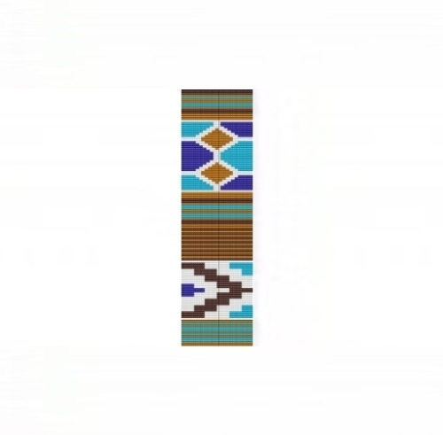 Primary image for Loom Bead Pattern - Ethnic #2 Blue Cuff Bracelet