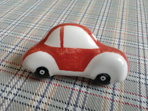 Red Car Nursery Kids Drawer Knobs Ceramic Baby Boys Girl Dresser Handles Pulls