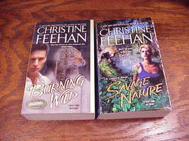 Leopard Series PB Books by Christine Feehan, 3, 5, Burning Wild, Savage Nature image 1