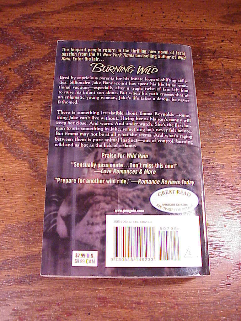 Leopard Series PB Books by Christine Feehan, 3, 5, Burning Wild, Savage Nature image 3