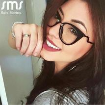 Ladies Optical Sexy Cat Eye Glasses Frames Women Brand Designer Eyeglasses Fashi image 3
