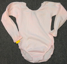 Capezio 134C Girl's Light Pink Large (12-14) Long Sleeve Leotard w/ Defects - $9.99