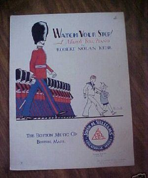 Sheet Music Watch Your Step March Piano Great Cover '33 Bonanza