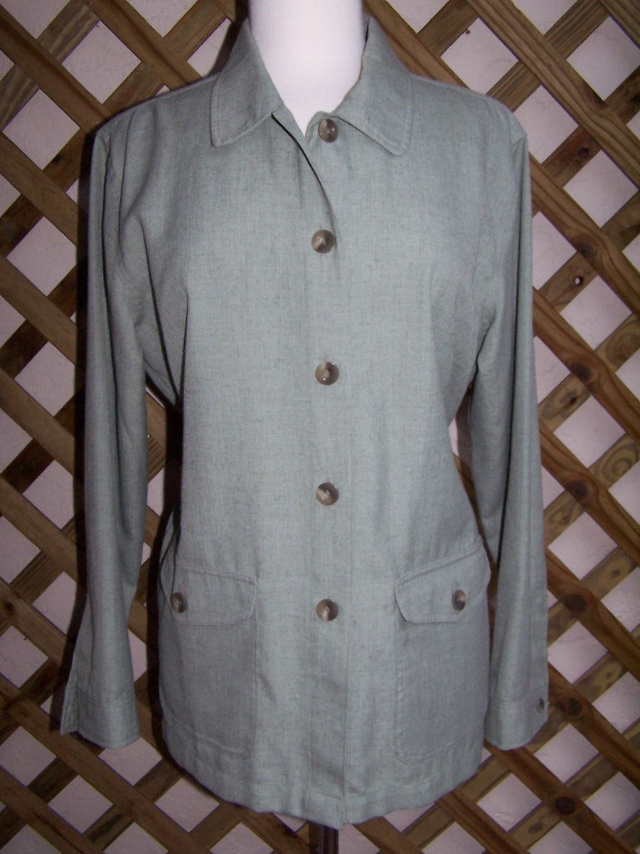 Jacket  M  L  Green Long Sleeve  Travel Smith  New