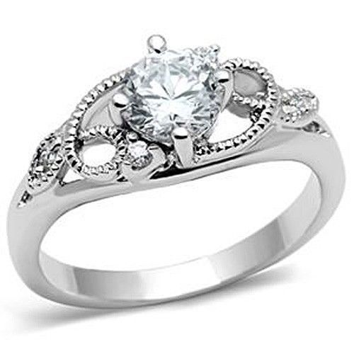 Garland Design Solitaire Cubic Zirconia Engagement Ring SIZE 5 to 9