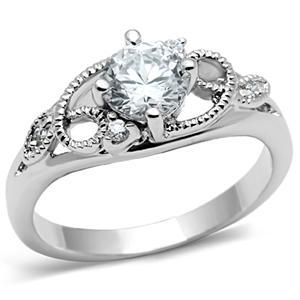 Garland Design Solitaire Cubic Zirconia Engagement Ring SIZE 5 to 9 image 2