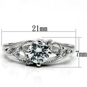 Garland Design Solitaire Cubic Zirconia Engagement Ring SIZE 5 to 9 image 3