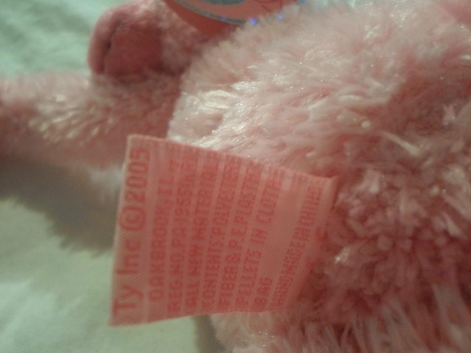 "Ty Pinkys Pink Monkey Chimp Hanging Velcro Plush Soft Toy Stuffed Animal 17"" image 8"