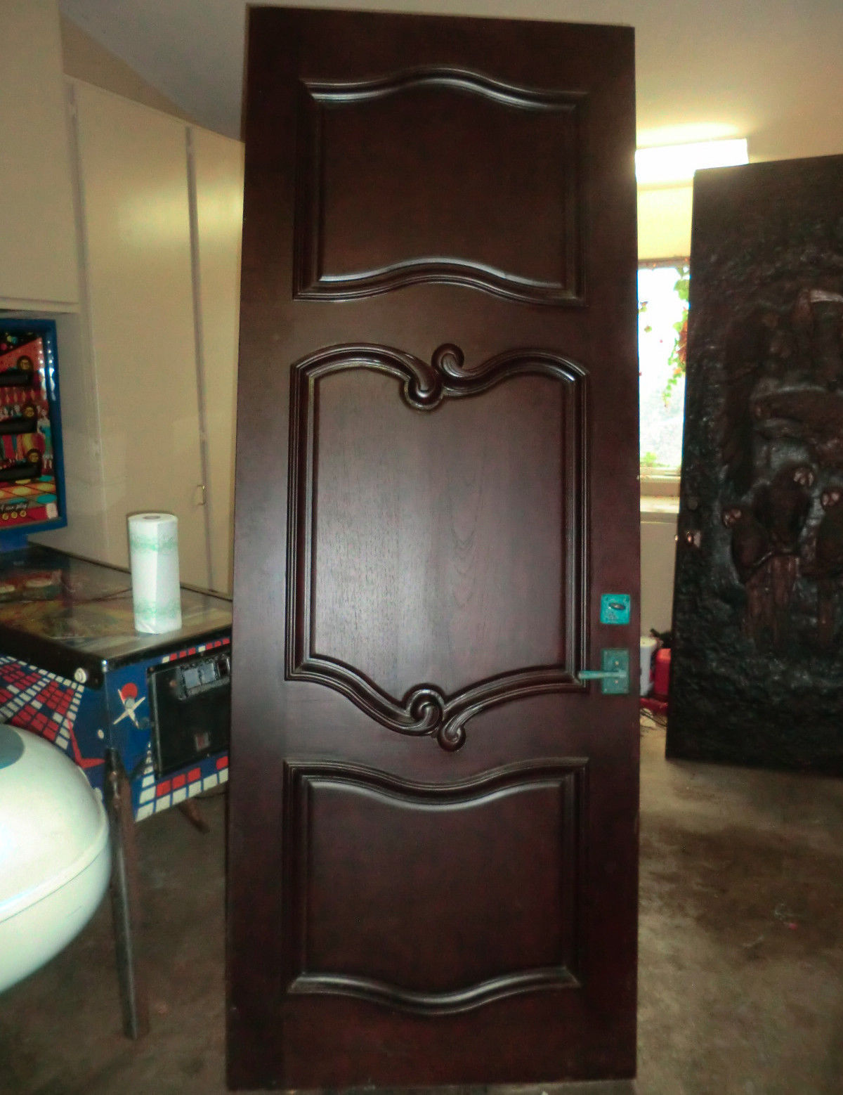 Bronze Polymer and Walnut Door -Dolphins made by Randy Morgan
