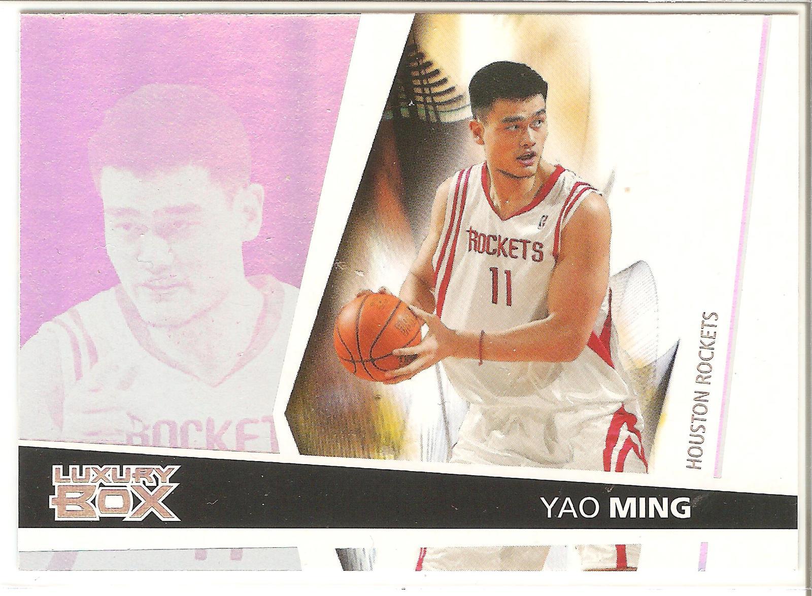 Yao Ming Luxury Box 05-06 #11 Houston Rockets China