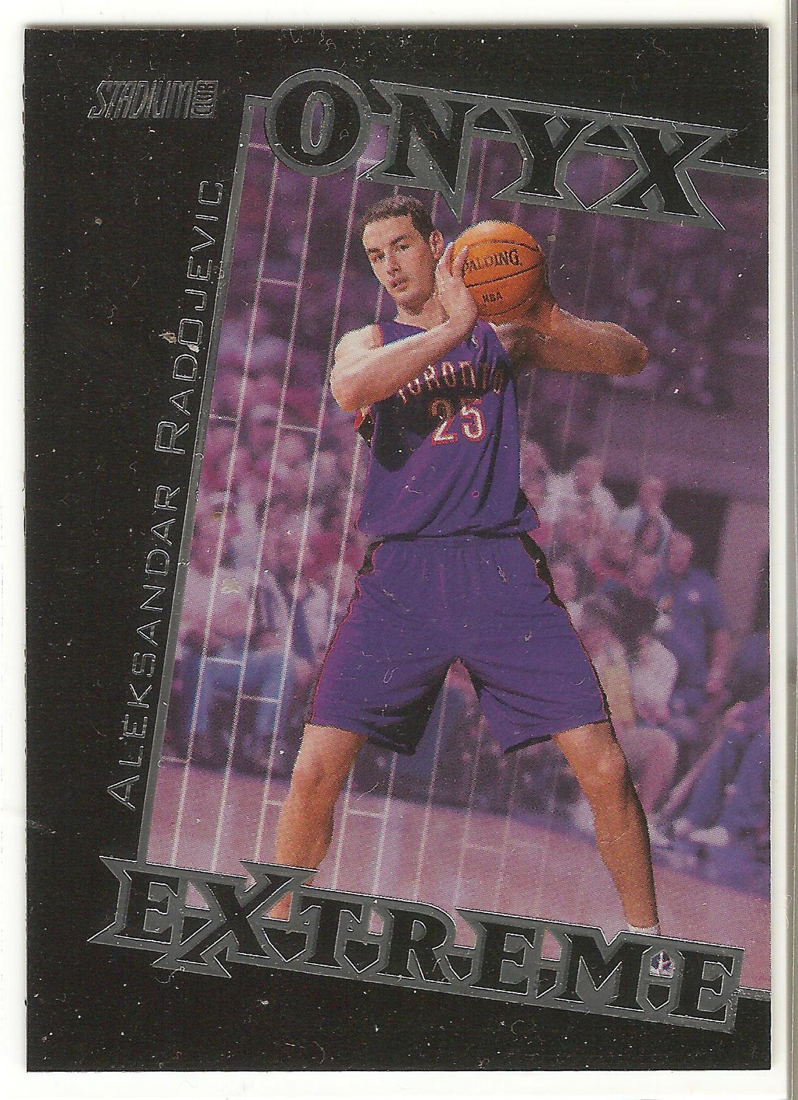 Aleksandar Radojevic Topps Stadium Club 99-00 #OE9 Onyx Extreme Toronto Raptors