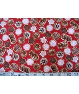 1 yd food/chocolates/candy on red quilt fabric - $9.99