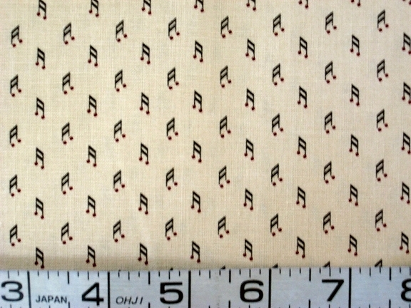 1/2 yd music/19th century reproduction quilt fabric -free shipping