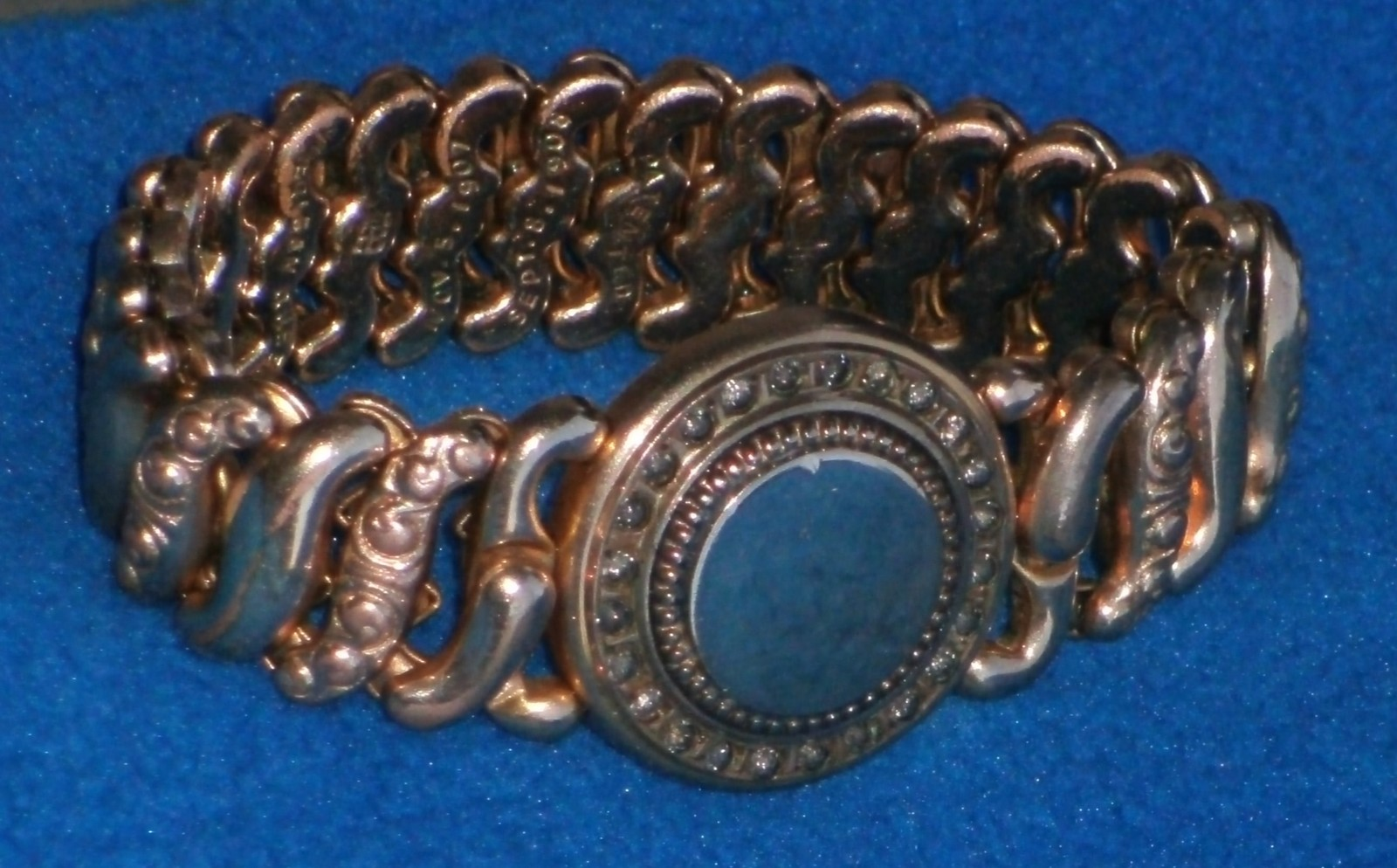 c 1907 American Queen GF245 GOLD Filled ENGRAVEABLE Sweetheart Bracelet by P K