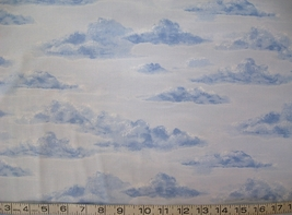 1/2 yd blue clouds/sky/landscape sky blue quilt fabric -free shipping