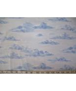1/2 yd blue clouds/sky/landscape sky blue quilt fabric - $5.99