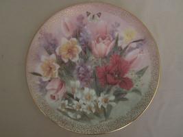 TULIP ENSEMBLE collector plate LENA LIU Symphony of Shimmering Beauty FL... - $28.00