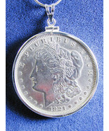 1217 Morgan Liberty Head 1921 US Silver Dollar Coin Jewelry, Coin is rem... - $90.00
