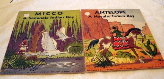 Antelope and Micco Two Indian books for Children Platt & Munk 1935