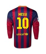 BARCELONA FC 2013-14 LONG SLEEVE MESSI HOME LFP SOCCER JERSEY (SIZE: MEDIUM) - $45.00
