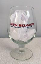 NEW BELGIUM BREWING COMPANY STEMMED BEER GLASS 0,47 L 16 OZ & BOTTLE OPENER image 1