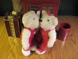 "Kissing Bears Magnetic Faces Hallmark  Anniversary 10"" Plush NWOT - $12.00"