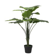 Artificial plant- fake silk palm Potted plant 2ft ,Set of 2 Artificial T... - £81.68 GBP